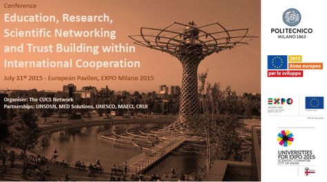Expo Milano 2015: Education, Research, Scientific Networking and Trust Building within International Cooperation
