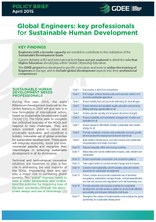 Policy Brief Global Engineers: key professionals for Sustainable Human Development